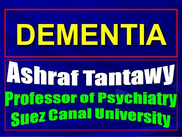 Dementia delerium