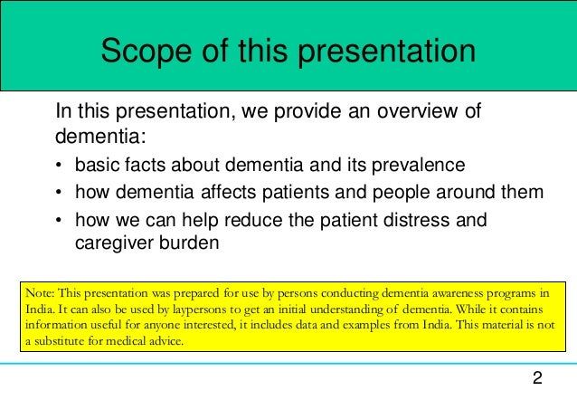 dementia presentation Caring of people suffering with dementia - authorstream presentation.