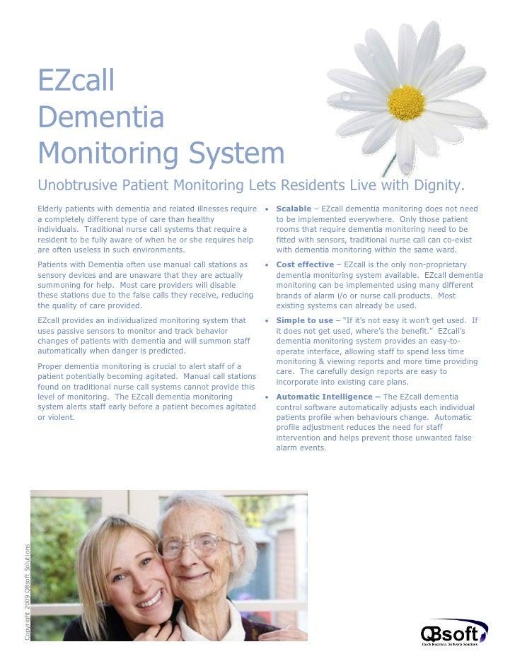 Dementia monitoring sales doc