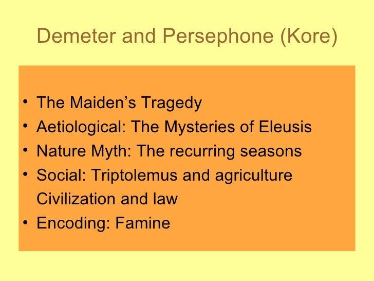 Demeter And Persephone (Kore)