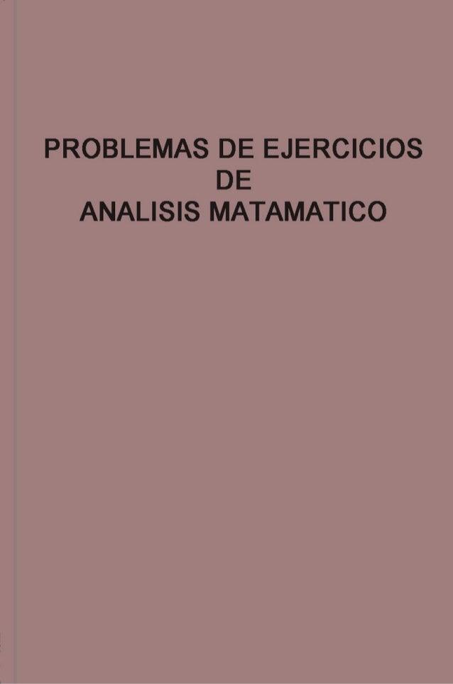 DEMIDOVICH problemas y ejercicios de Analisis Matematico