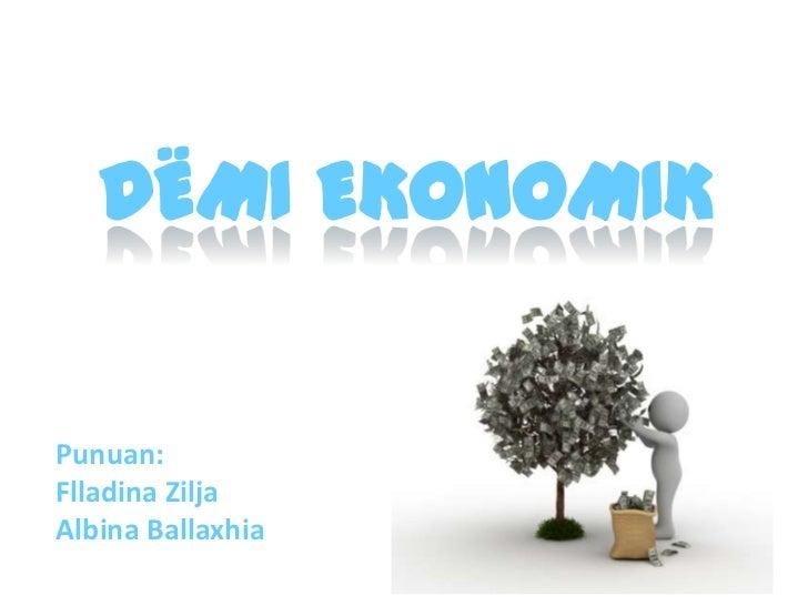 Demi ekonomik - Open Datathon Albania 2011