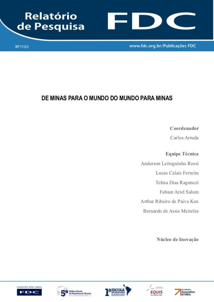 RP1105   Gestão estratéGica do suprimento e o impacto no           desempenho das        empresas Brasileiras          de ...