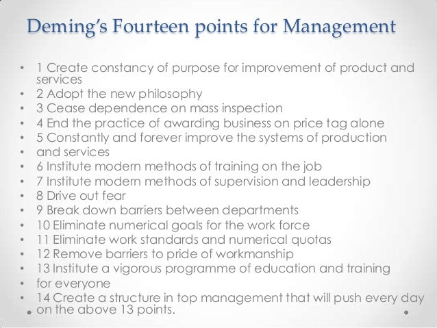 Deming's 14 Points Explained and Implementation