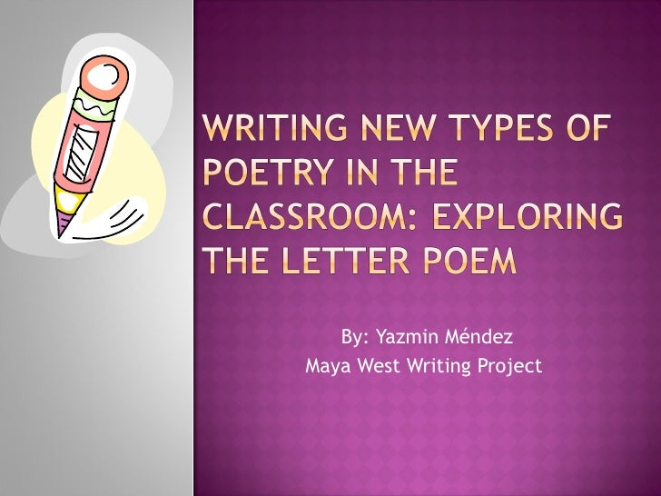 By: Yazmin Méndez Maya West Writing Project