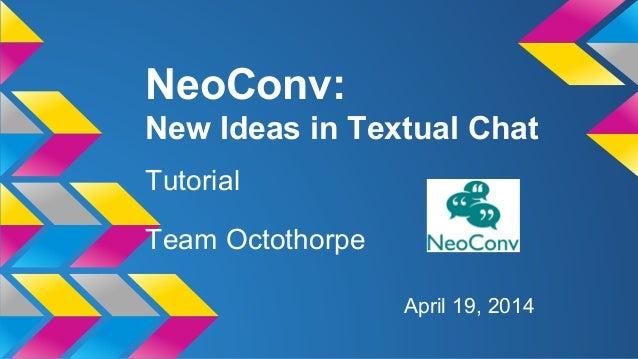 NeoConv Tutorial