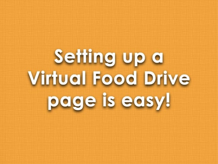 Create Your Own Virtual Food Drive!