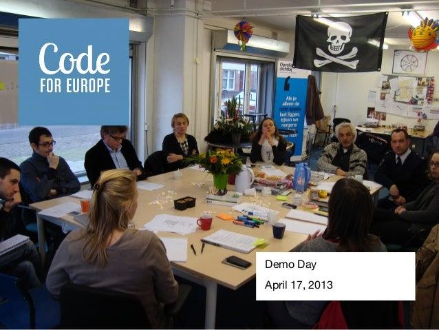 Code for Europe demo 2013-04-17 at Stadsdeel West Amsterdam