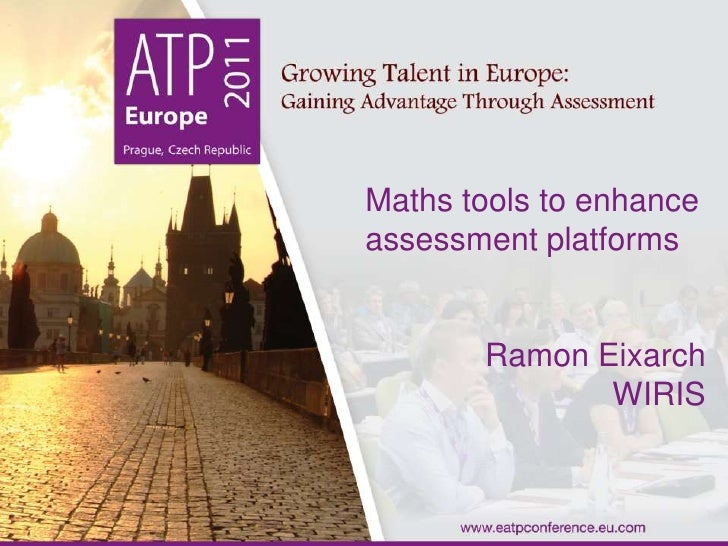 WIRIS quizzes presentation at eATP conference
