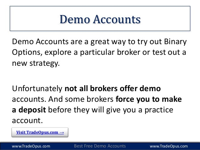 Binary option free demo account