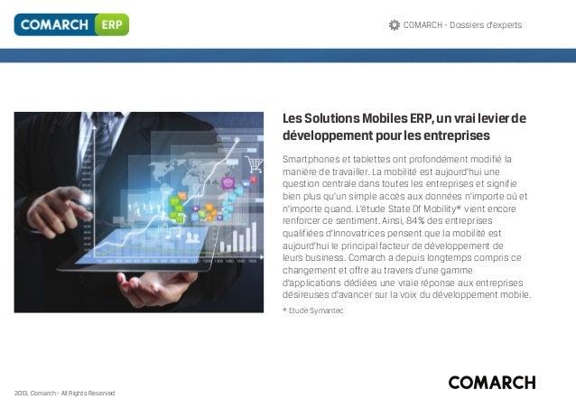 Dossiers d'experts - Solutions Mobiles ERP, un vrai levier de développement pour les entreprises