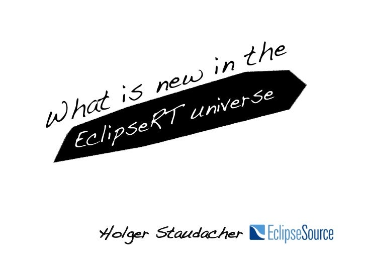 What is new in the EclipseRT universe, Eclipse Indigo Democamps