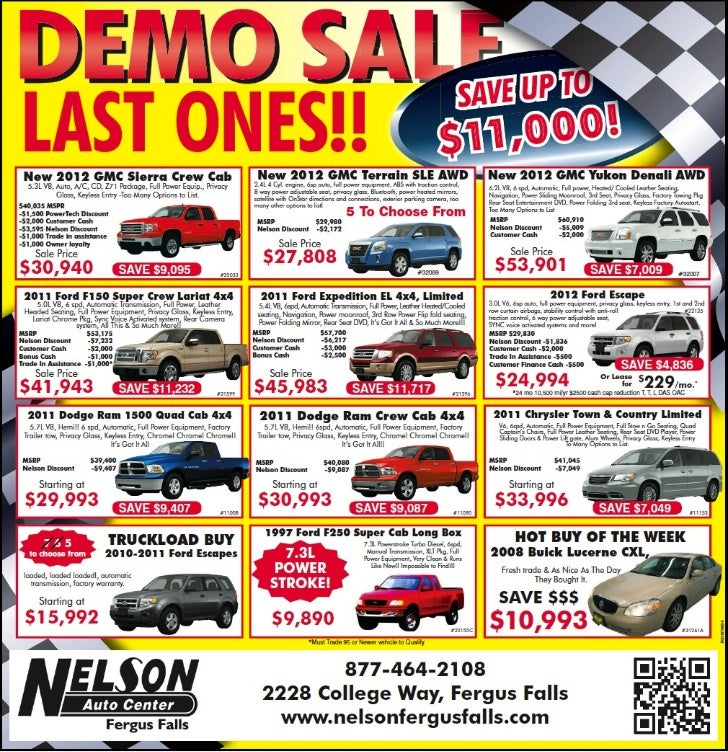 Demo Cars Sale Special MN | GMC Dodge Ford Dealer near Fargo