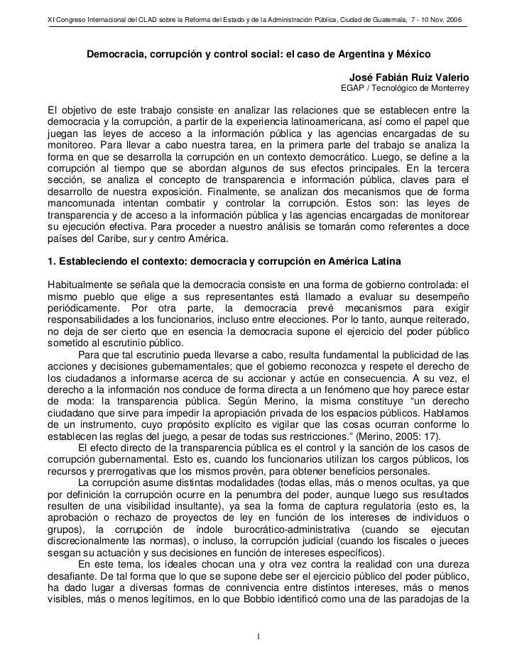XI Congreso Internacional del CLAD sobre la Reforma del Estado y de la Administración Pública, Ciudad de Guatemala, 7 - 10...