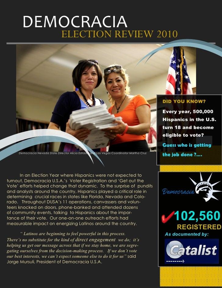 Democracia election review 2010