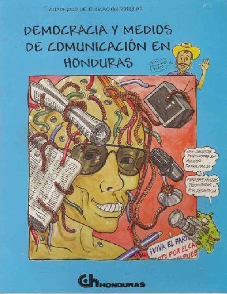 Democracia y medios de comunicación en Honduras