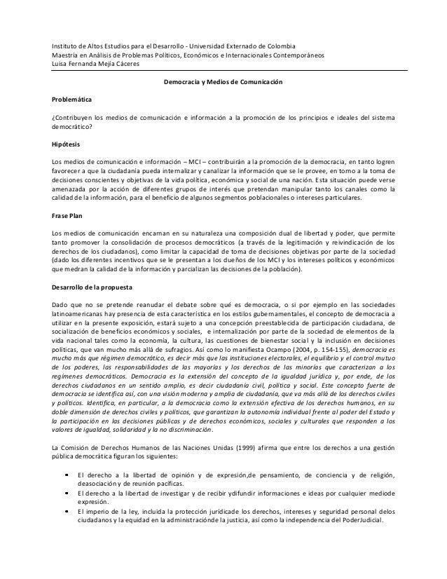 Instituto de Altos Estudios para el Desarrollo - Universidad Externado de ColombiaMaestría en Análisis de Problemas Políti...