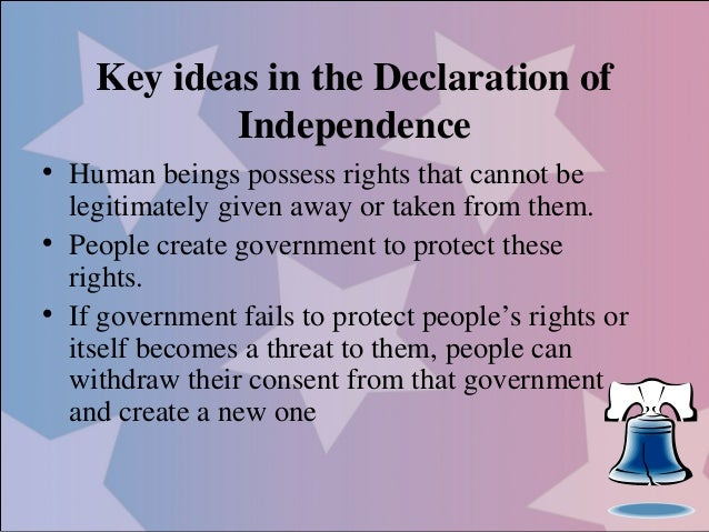 personal declaration of independence Analysis of the declaration of independence - what is the declaration of independence the declaration of independence states that all individuals have inalienable rights, requiring life, liberty, and property, a document by which the thirteen colonies proclaimed their independence from great britain.