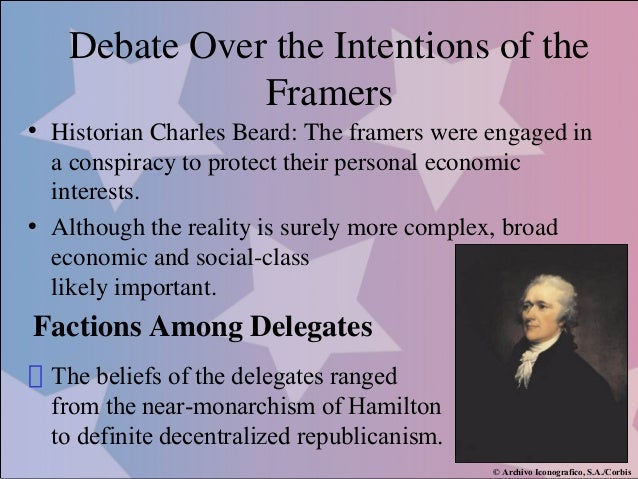 charles beard thesis framing constitution