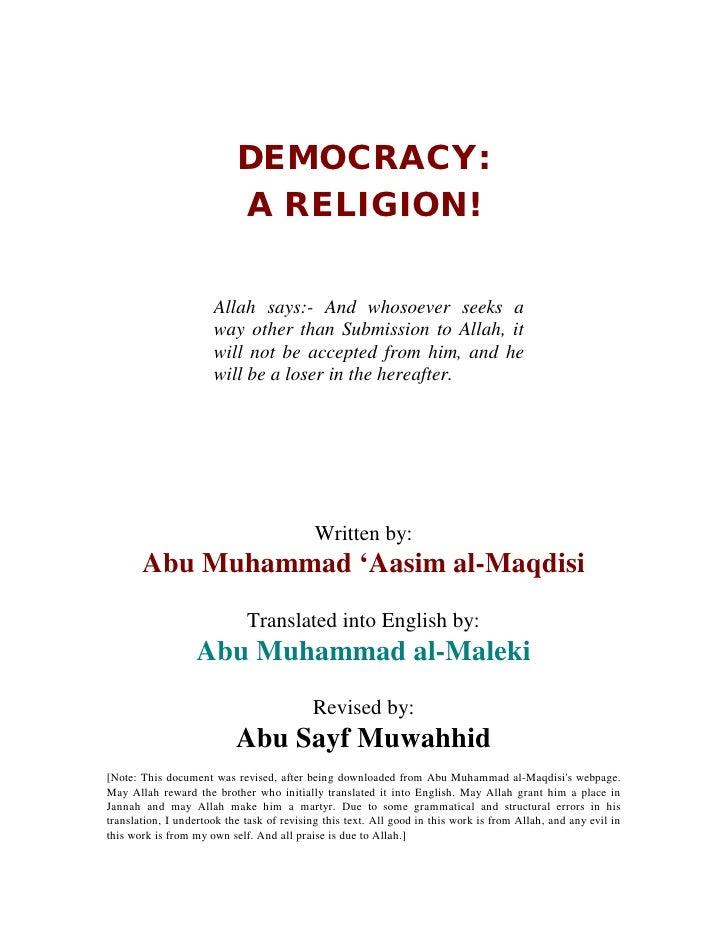 Democracy A Religion