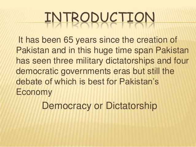 democracy vs dictatorship in pakistan essay