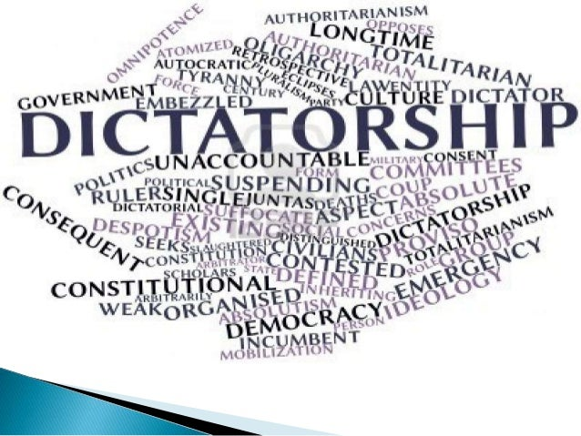 democracy vs dictatorship Sadia jahandad political system of pakistan has seen many upheavals since its creation in 1947 if we see the entire political scenario, pakistan has been ruled under.