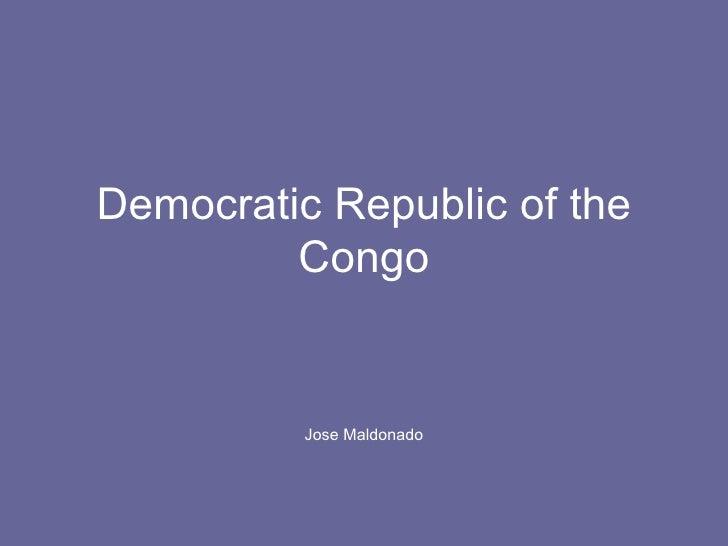 Democratic Republic of the Congo Jose Maldonado