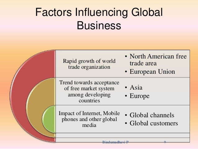 the influential factors behind the growth of globalisation The overall economics of a particular industry or trade is an important factor in globalisation (3) resources and markets: the natural resources like minerals, coal, oil, gas, human resources, water, etc make an important contribution in globalisation.
