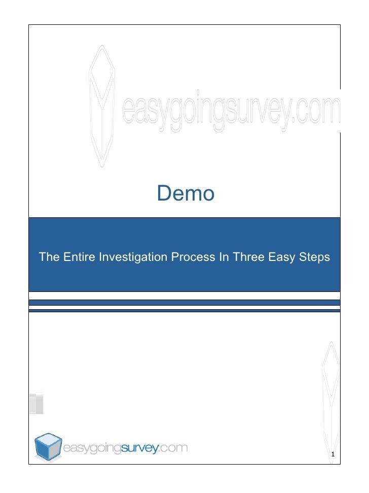 online surveys -- EasyGoingSurvey.com -- Demo