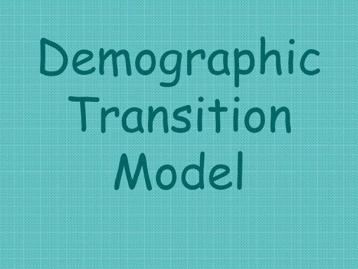 Demographic Transition Model