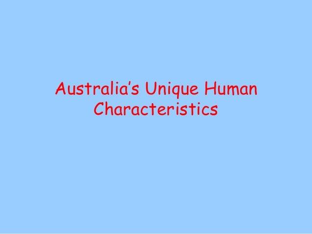 Demographic Characteristics of Australia (2013)