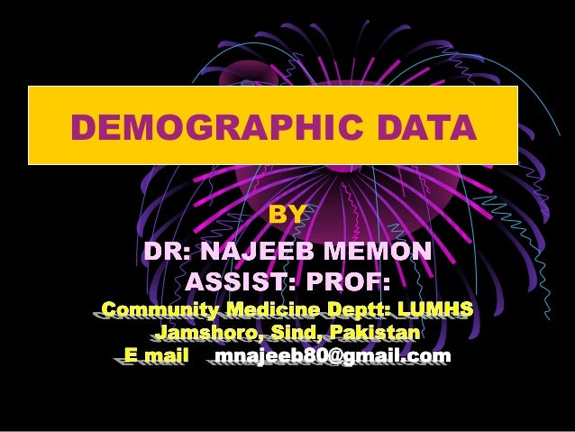 DEMOGRAPHIC DATA