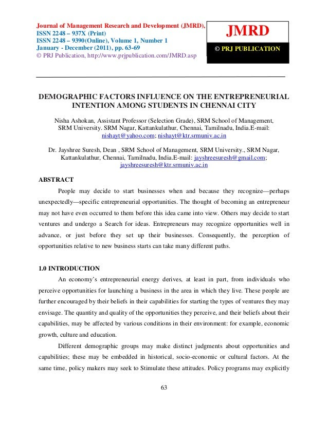 Journal of Management Research and Development (JMRD), ISSN 2248 – 937X (Print) Journal of Management Research and Develop...