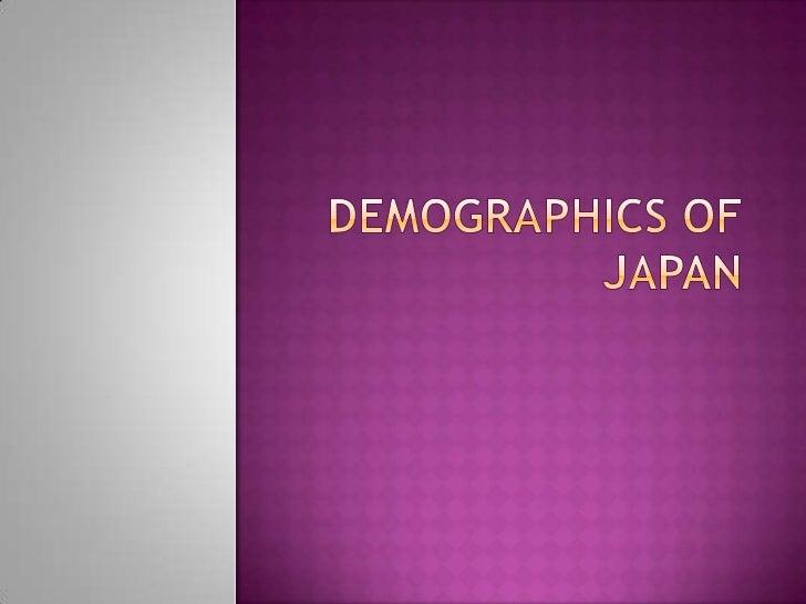 Demographics of Japan<br />