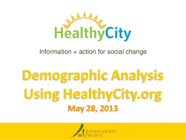 Demographic Analysis 5.28.2013