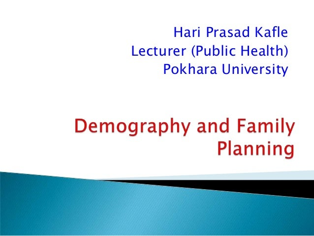 Demography and family planning1