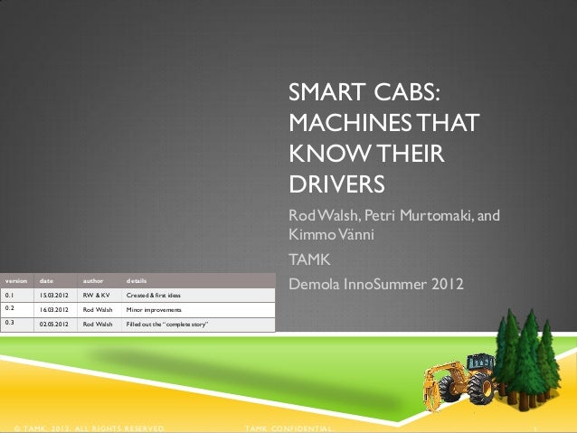 SMART CABS:                                                                              MACHINES THAT                    ...