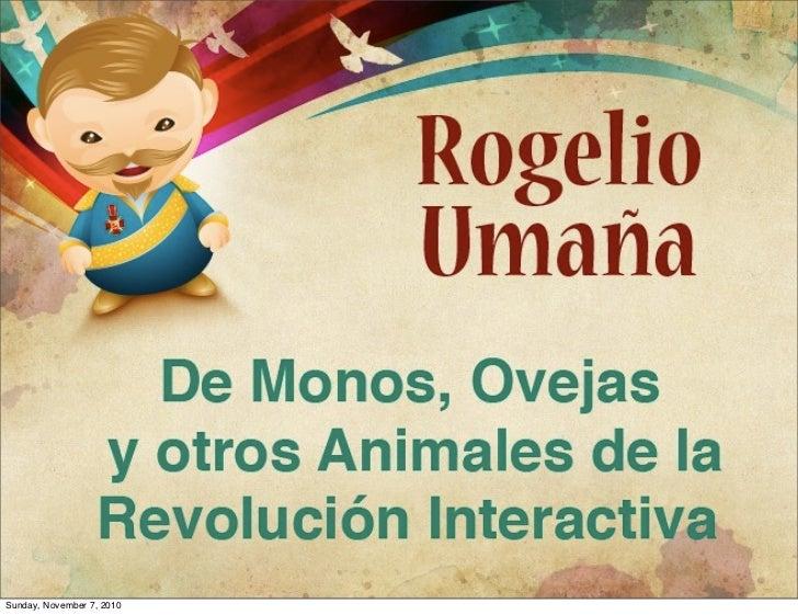 De Monos, Ovejas y otros animales de la Revolución Interactiva