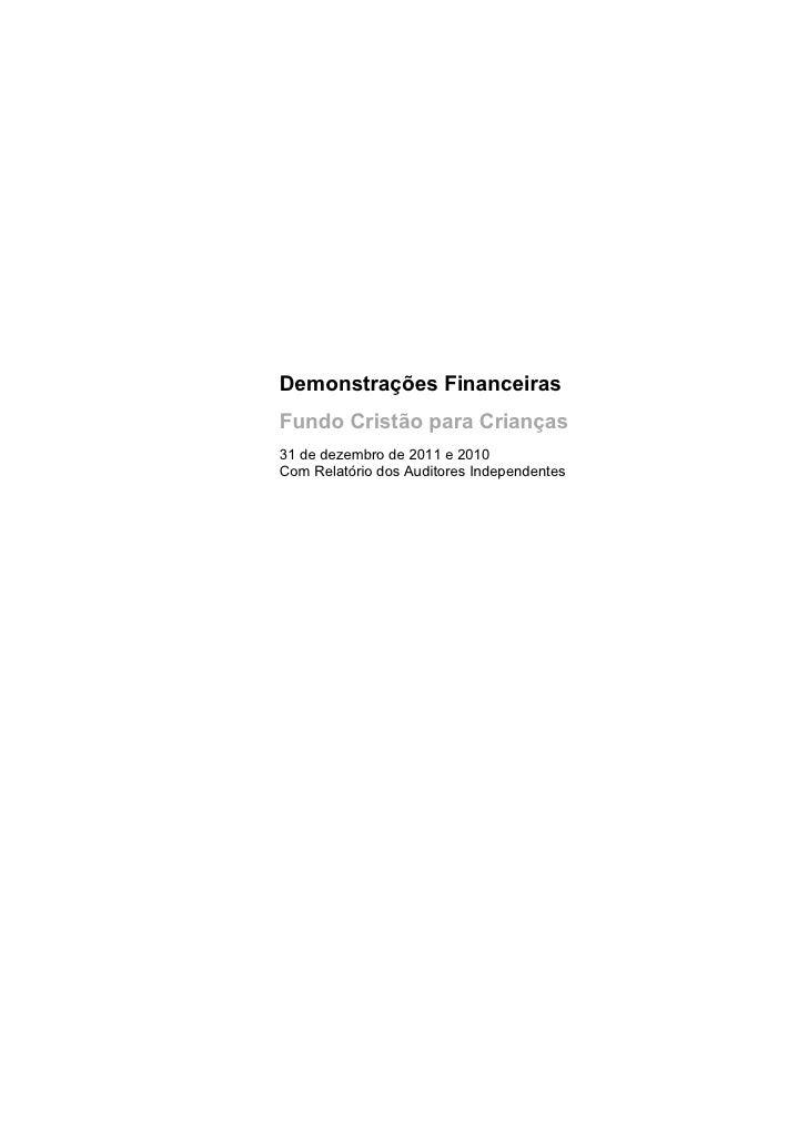 Demonstrações financeiras 2010-2011