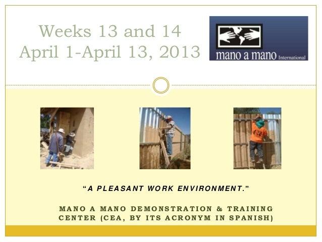 Demonstration Center Activities - early April 2013