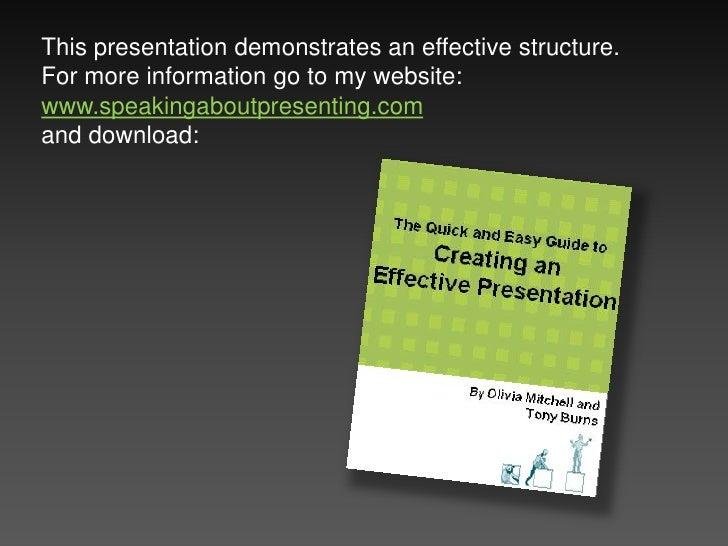 Demonstration Of Presentation Structure
