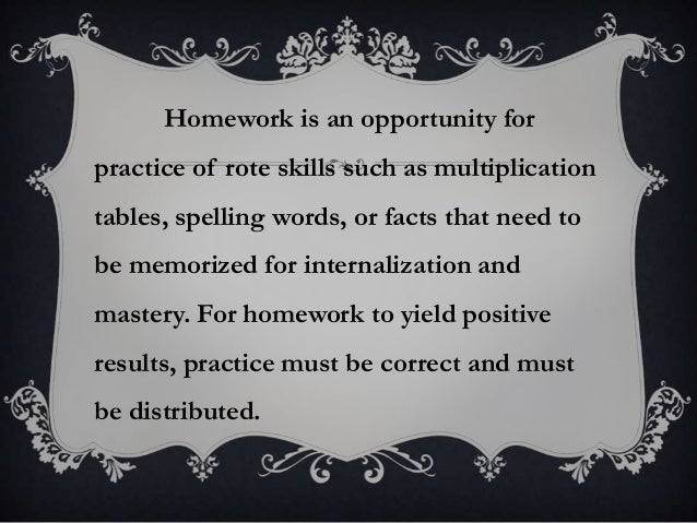 Facts about homework being helpful