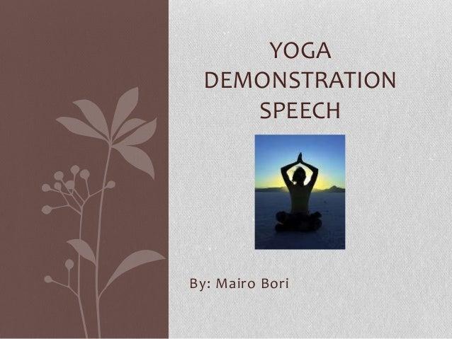 essay on demonstration speech play doh