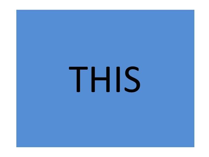 Demonstrative Pronoun This