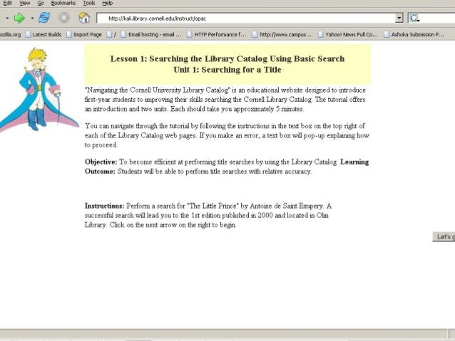 Demo slides for A Novel Catalog Tutorial