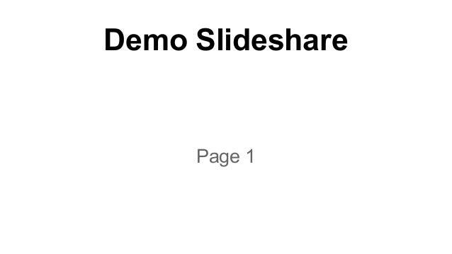 Demo Slideshare  Page 1