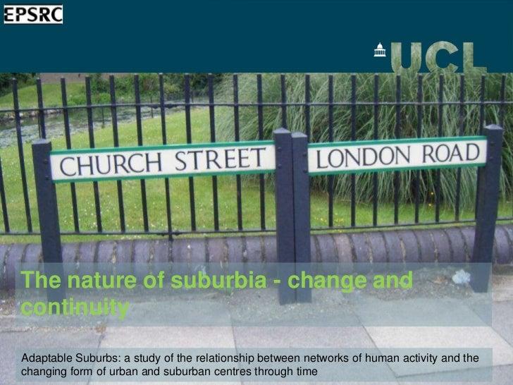 Demos LSE presentation - Nature of The Suburbs