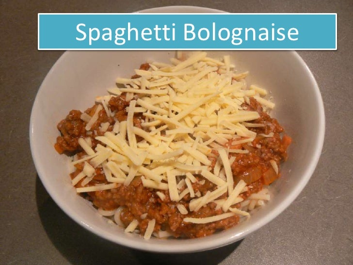 Spaghetti Bolognaise <br />