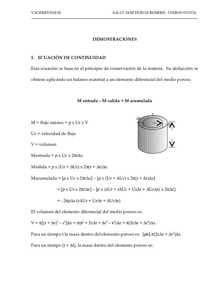 Demostraciones de ecuaciones en yaci iii