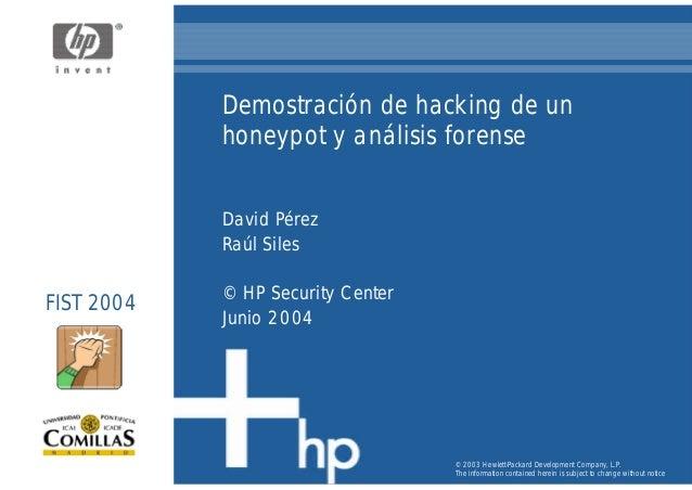 Demostracion Hacking Honeypot y Análisis Forense